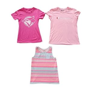 Lot of Girl's Athletic Theme T-Shirts & Tank